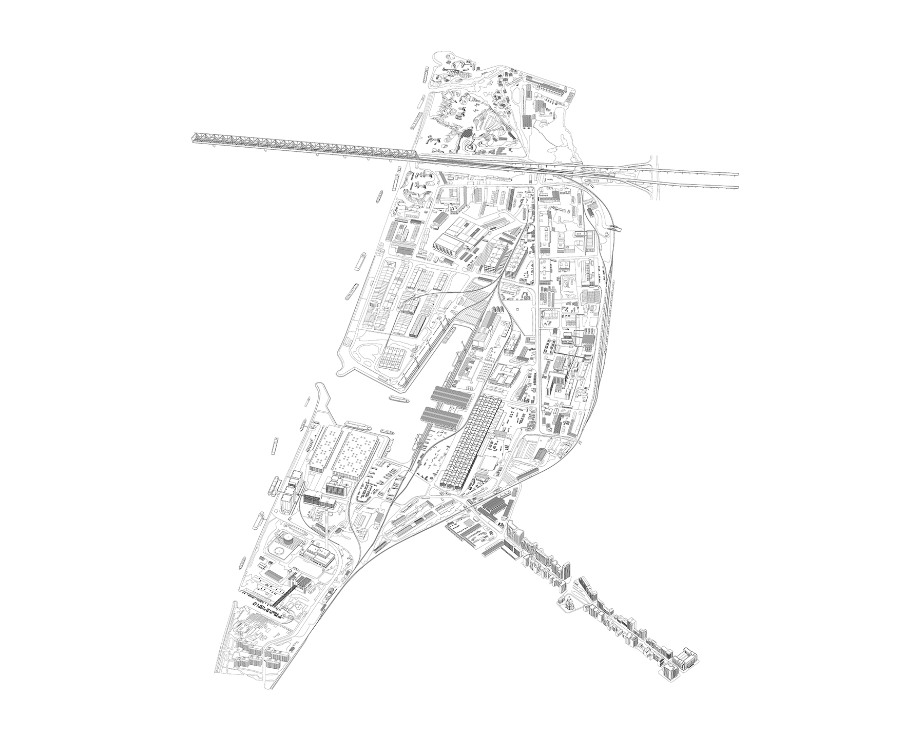 Ten Lager Eugster Belgrade Harbour Site Drawing For Le Salon